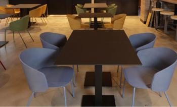 Ensemble 4 Chaises Not Wood et 2 Tables
