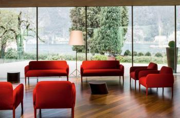 Canapé Lounge Petit 2 Places Join Pieds Bois