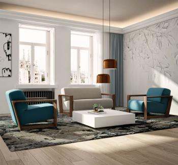 Canapé Design Pieds Bois Arco