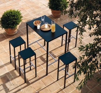 Table Haute et 4 Tabourets Seaside