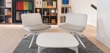 Ensemble de 2 Chaises Lounge Glove avec Table Basse